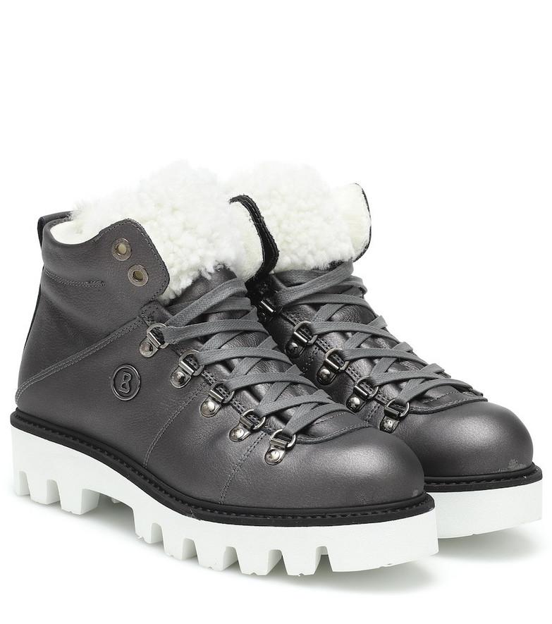 Bogner Copenhagen leather snow boots in grey