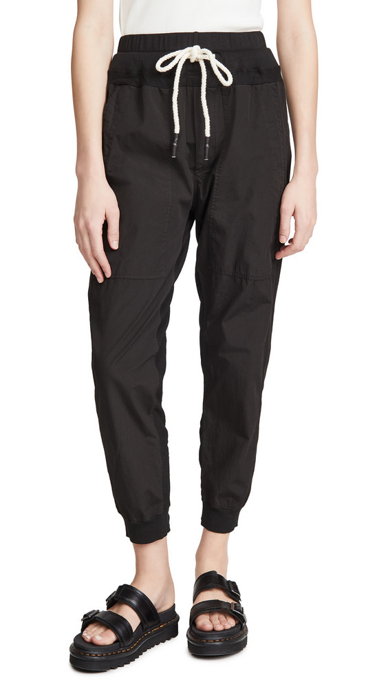 Bassike Utility Cotton Pants in black