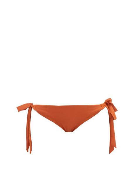 Casa Raki - Cindy Tie Side Bikini Briefs - Womens - Orange