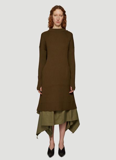 Hyke Command Sweater Dress in Green size JPN - 2