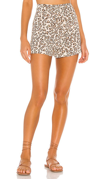L'Academie The Betina Short in Brown