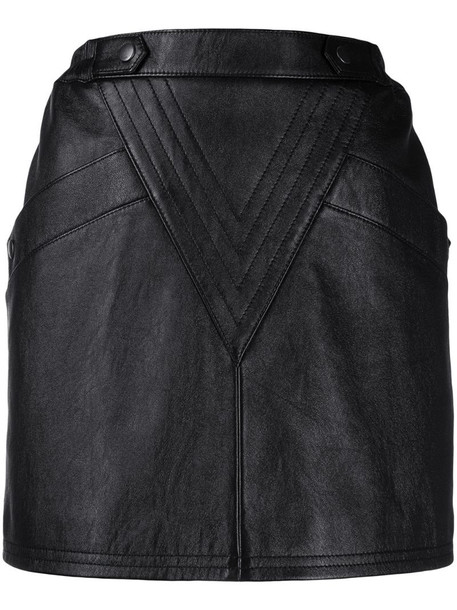 Saint Laurent lambskin mini skirt in black