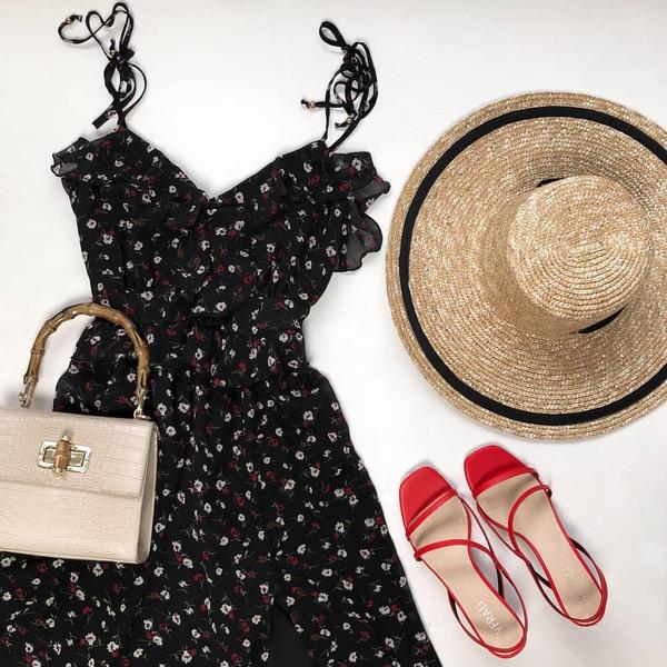 shoes bag hat dress