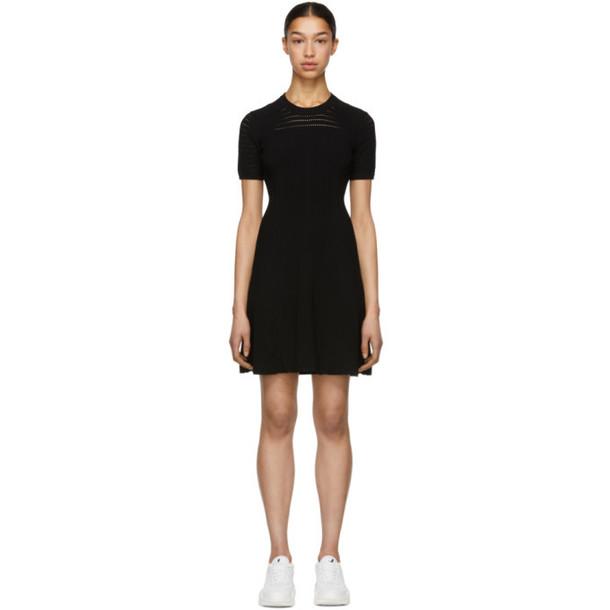 Kenzo Black Solid Lacehole Dress
