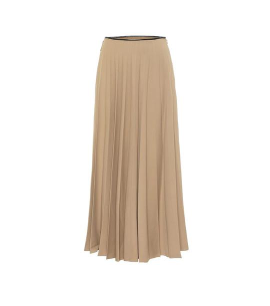 Peter Do High-rise stretch-crêpe midi skirt in beige
