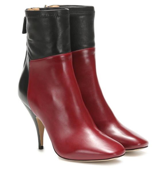Petar Petrov Selma leather ankle boots in red