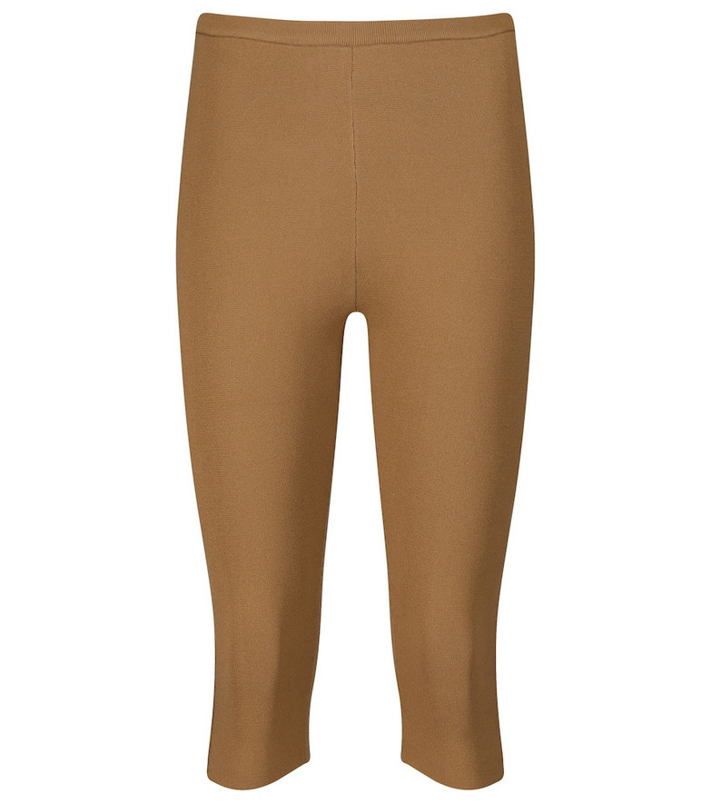 Toteme High-rise knit shorts in beige