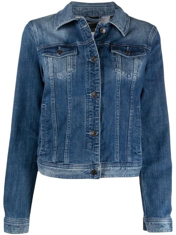 Armani Exchange button-up denim jacket in blue