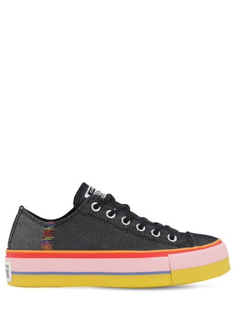 CONVERSE Chuck Taylor All Star Lift Ox Sneakers in black / pink
