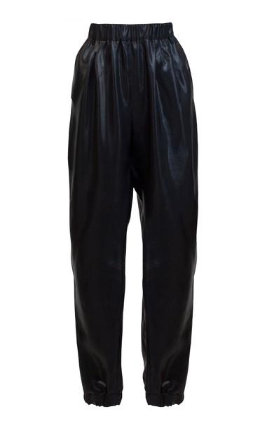 Lake Studio Pleated Crepe De Chine Harem Pants Size: 46 in black