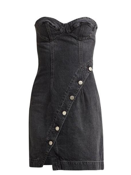 Jean Atelier - Claudia Buttoned Denim Dress - Womens - Grey