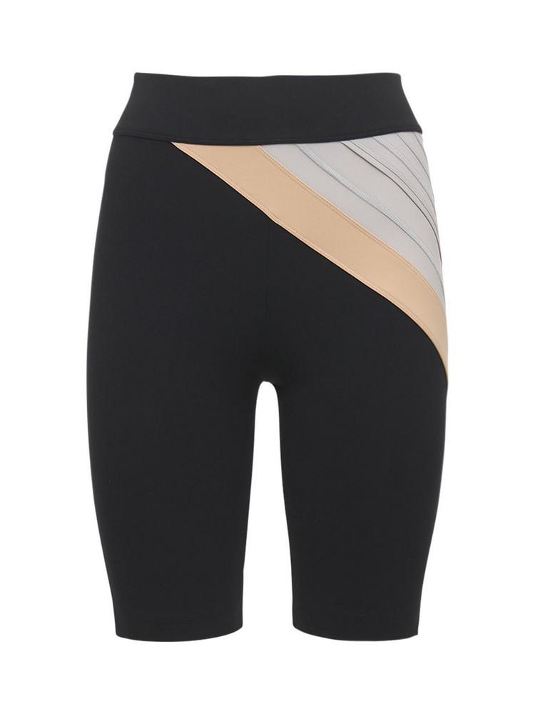 NO KA'OI Color Block Biker Shorts in black