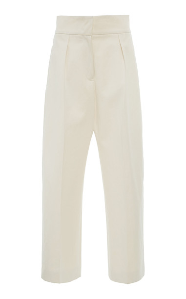 Jil Sander Mads High Rise Cotton Culotte in white