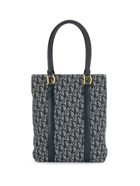 Christian Dior pre-owned Trotter elongated tote bag in blue
