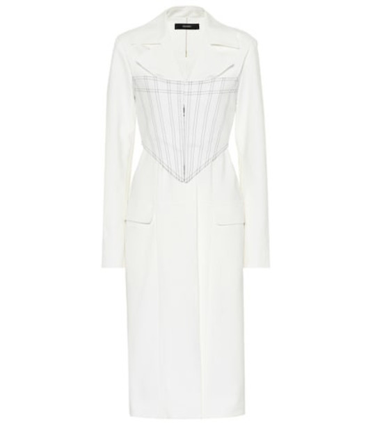 Ellery Visual Pun Corset stretch cotton coat in white