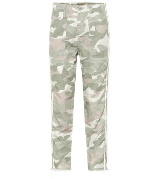 Mother The Shaker Chop Crop Fray pants in green