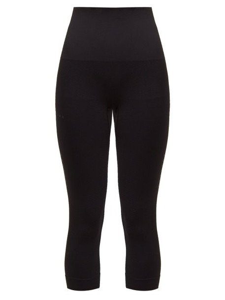 Falke - Shape Cropped Performance Leggings - Womens - Black