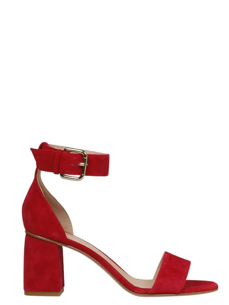 Red Valentino Ankle Buckle Strap Detailed Sandals