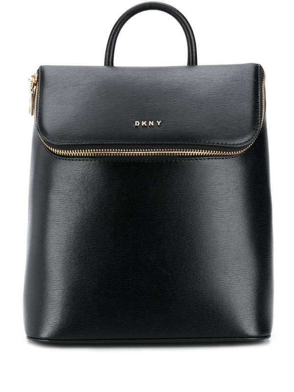 DKNY Bryant leather backpack in black