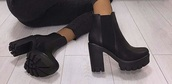 shoes,black boots,boots,high heels