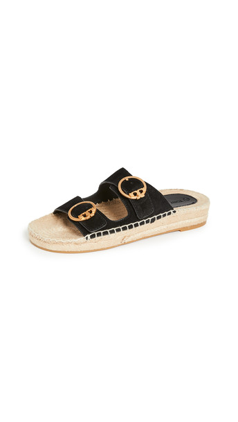 Tory Burch Selby Two Band Sandals in black