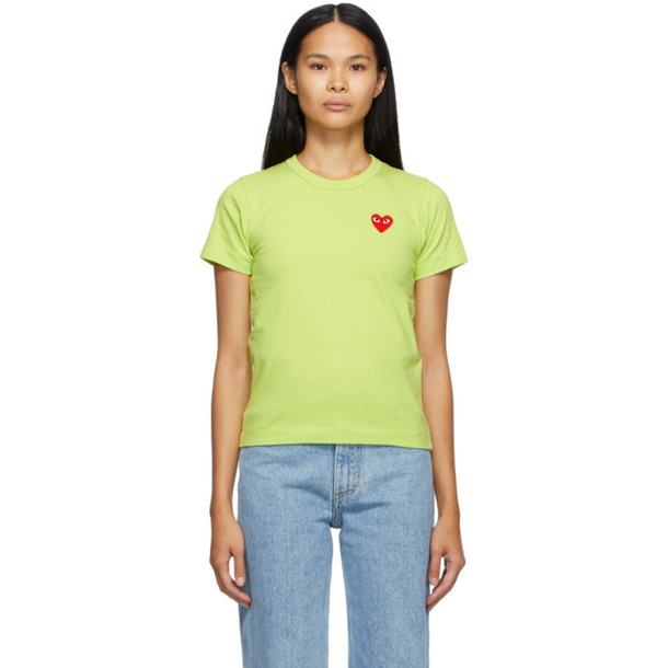 Comme des Garcons Play Green Heart Patch T-Shirt