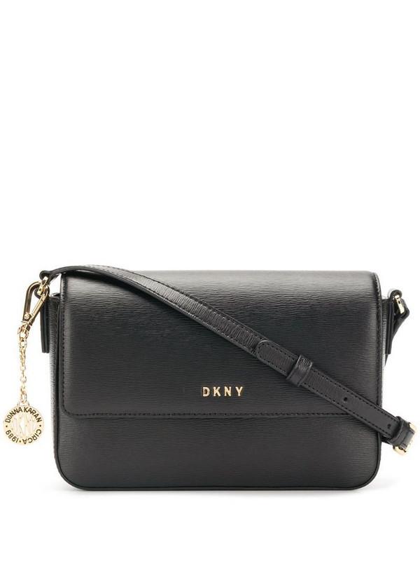 DKNY Bryant flap cross body bag in black
