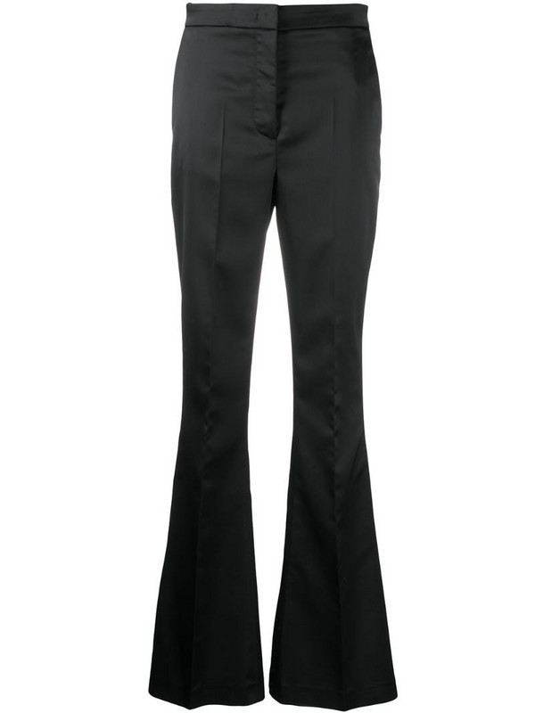 Manuel Ritz flared high-waisted trousers in black