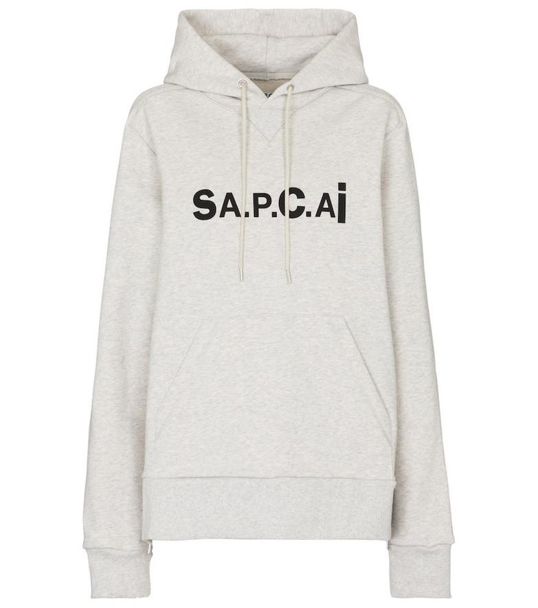 A.P.C. x sacai Taiyo cotton hoodie in grey