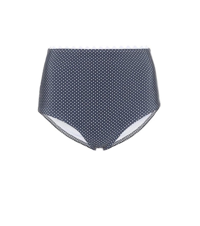 Karla Colletto Coco high-rise bikini bottoms in grey