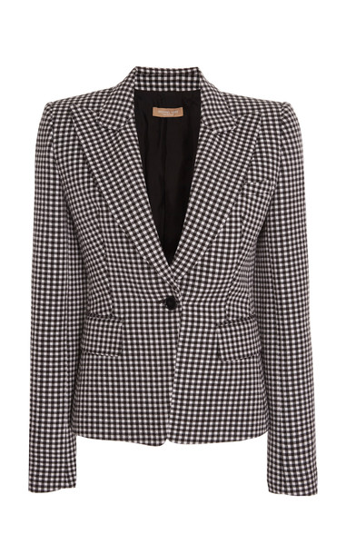 Michael Kors Collection Gingham Cotton-Wool Blazer in print