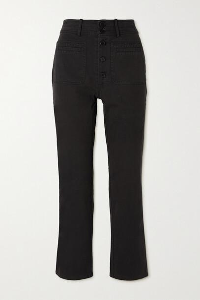 APIECE APART - Marston Cotton-twill Flared Pants - Black