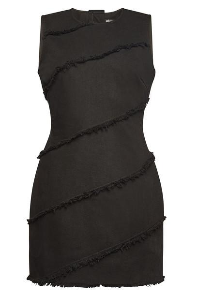 alexanderwang.t Diagonal Seamed Dress  in black
