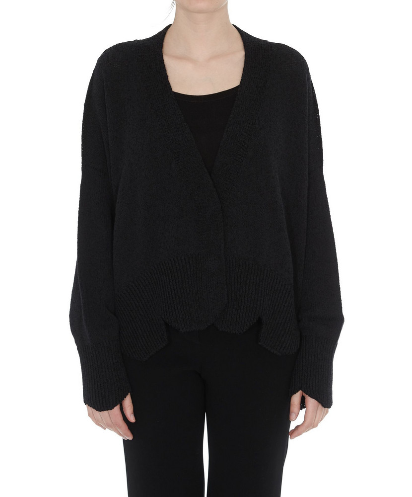 Maison Flaneur Loose Fit Cardigan in black