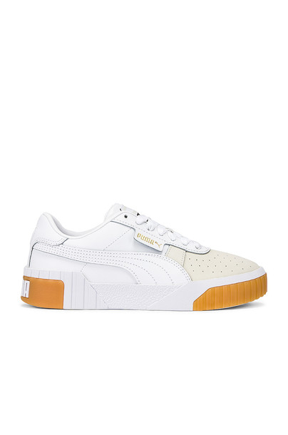 Puma Cali Canvas Sneaker in white
