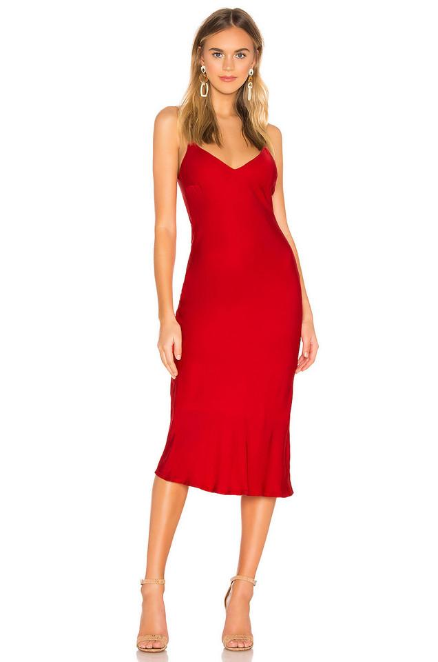Cali Dreaming Vaea Slip Dress in red
