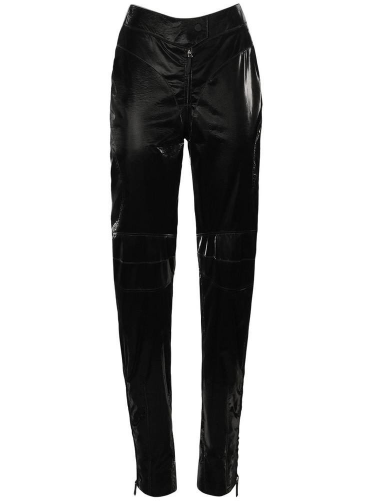 MUGLER Shiny Tech Biker Pants in black