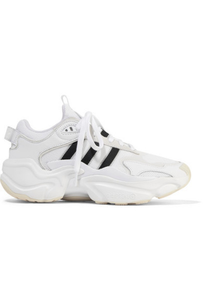 adidas Originals - Magmur Suede-trimmed Leather And Mesh Sneakers - White