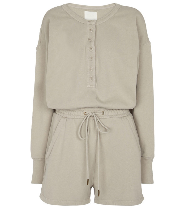 Citizens of Humanity Loulou cotton jersey playsuit in grey