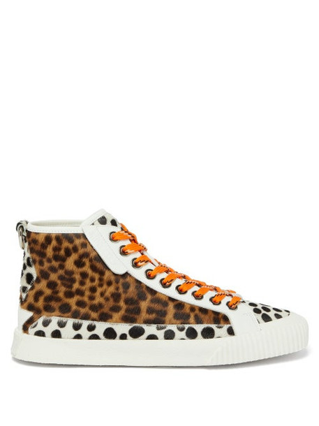 Jimmy Choo - Impala Leopard-print High-top Trainers - Womens - Multi
