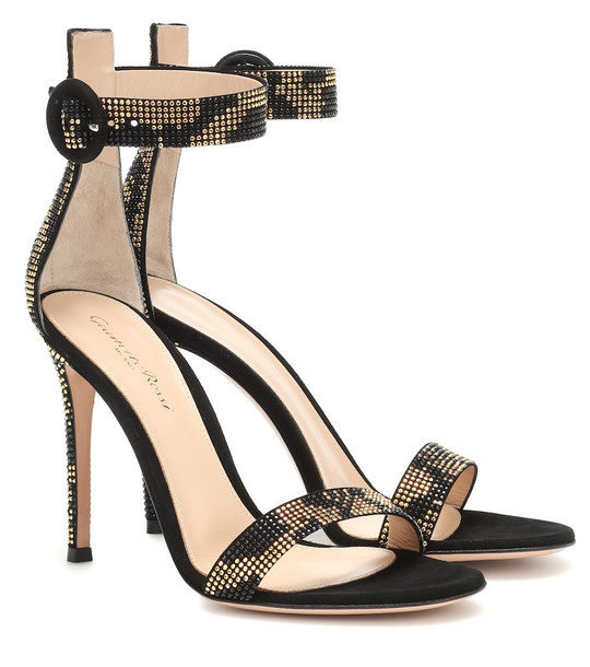 Gianvito Rossi Ronnie embellished sandals in black