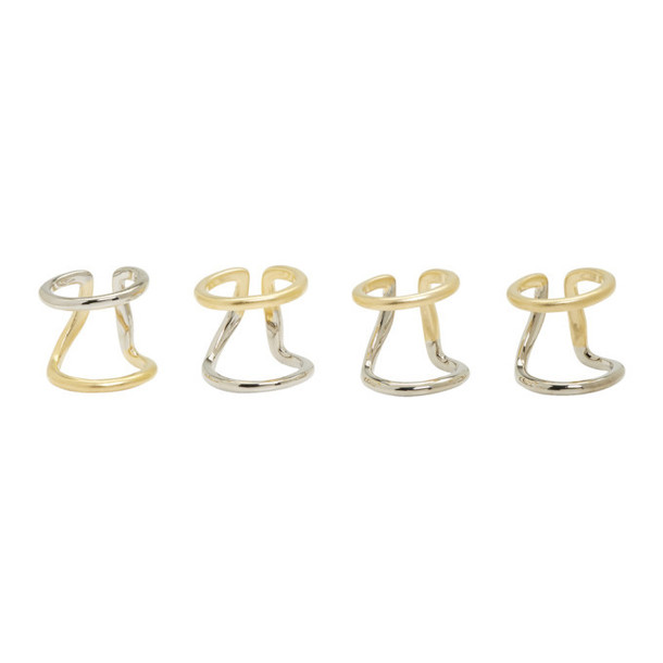 Maison Margiela Silver and Gold Multi Ring Set