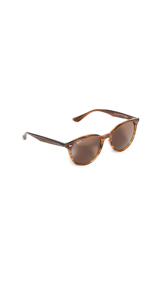 Ray-Ban Highstreet Round Sunglasses in brown / red