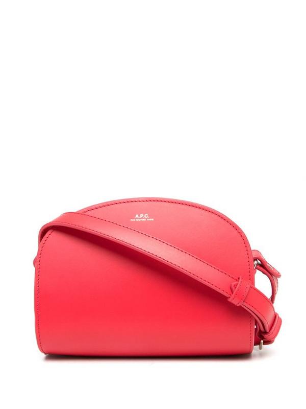 A.P.C. Demi half-moon crossbody bag in pink