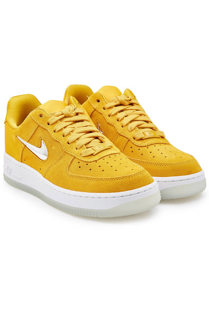 Nike Air Force 1 '07 Premium LX Suede Sneakers  in yellow