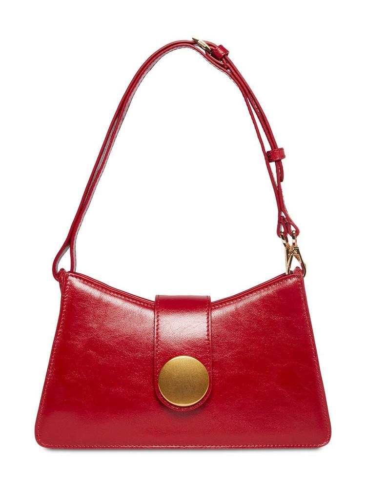 ELLEME Baguette Vintage Leather Shoulder Bag in red