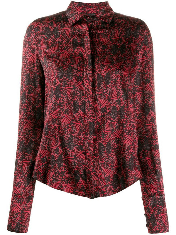 Federica Tosi embroidered fitted blouse in red