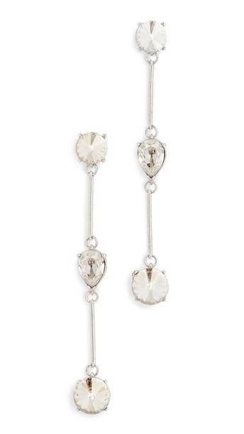 Oscar de la Renta Crystal Stone Earrings