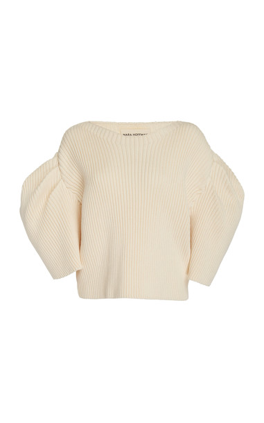 Mara Hoffman Inga Sculpted Ribbed-Knit Top Size: S in white