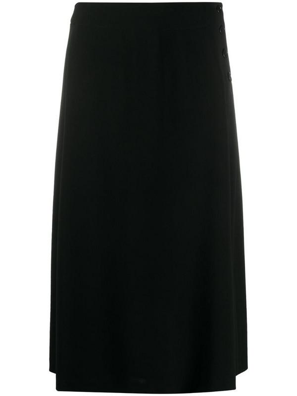 Aspesi high-waist buttoned skirt in black